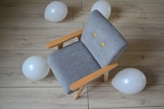 Sessel - Kindersessel - MINI MODELINI grey - ein Designerstück von modelina-home bei DaWanda