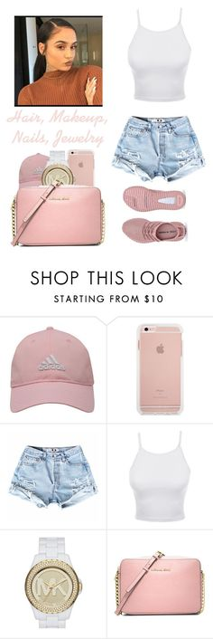 """""""You (featuring Kehlani)"""" by ieshiadumas ❤ liked on Polyvore featuring adidas Golf, LE3NO and MICHAEL Michael Kors"""