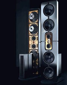 Steinway Lyngdorf Model D speakers. $188,000 for the standard Model D system. Home theater Model D systems start at a hefty $267,400.