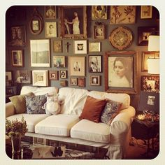 Tanja Lippert's Studio Wall (my living room wall is starting to look like this! My Home Design, House Design, Picture Arrangements, My Living Room, My New Room, Home Decor Inspiration, Decoration, Making Ideas, Home Remodeling