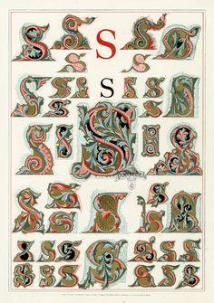 Owen Jones Alphabet 1864 ~qual reprints avail for purchase