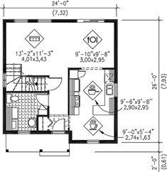 Main Floor Plan 24x26 Garage Apartment House Plans In