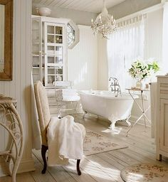 There is just something about a beautiful white bathroom that never loses its charm