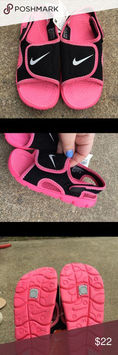077b3d025a4f Toddler Girls Nike Pink & Black Sandals Size 10 Toddler Girls Nike Pink &  Black Sandals Size 10 Brand new! Tags! Nike Shoes Sandals & Flip Flops