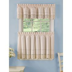 Country Living -Valance Ivory Crochet