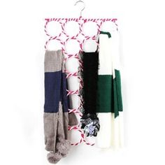 Online Shop [Free shipping] 28-hole Ring Rope Slots Holder Hook Scarf Wraps Shawl Storage Hanger Organizer (4 pieces/ Lot)|Aliexpress Mobile