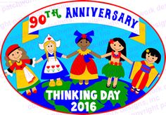 Thinking Day 2016 [ordering over 300 patches] World Thinking Day, Patchwork Designs, Girl Scouts, Badges, Projects To Try, Patches, Anniversary, Ideas, Girl Guides
