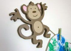 Monkey Artwork Hanger Artwork Display by FrogsAndFairytales, $25.00