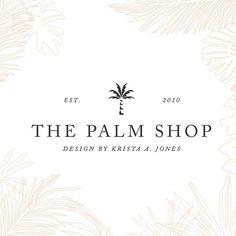 Tropical logo design by The Palm Shop