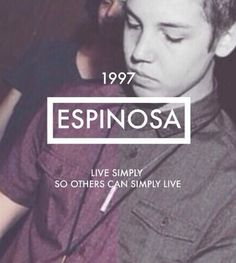 """""""Live simply so others can simply live."""" - Matthew Lee Espinosa. You are so inspiring @mattmagcon"""