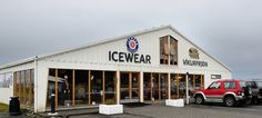 ICEWEAR store and factory in Vik, Iceland.