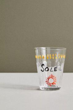 Hotel Magique for Anthropologie Petit Dejeuner Juice Glass | Anthropologie Paper Goods, Pint Glass, Juice, Anthropologie, Entertaining, Tableware, Graphic Design, Art Prints, Collaboration
