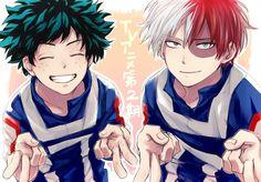 Boku no Hero Academia || Todoroki Shouto, Midoriya Izuku, My hero academia #mha