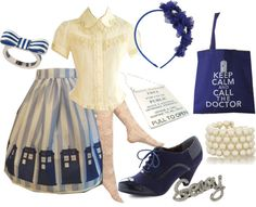 """Tardis Lolita"" by meiki ❤ liked on Polyvore"
