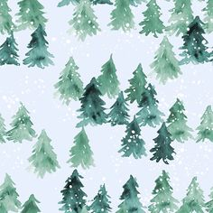 Woodland Pine Trees Fabric Chalet View By Joy And by Spoonflower