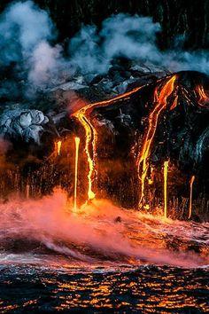 Parures Housses de Couette les Forces de la Nature Image Nature, All Nature, Science And Nature, Amazing Nature, Photo Volcan, Volcan Eruption, Photos Voyages, Natural Phenomena, Natural Disasters