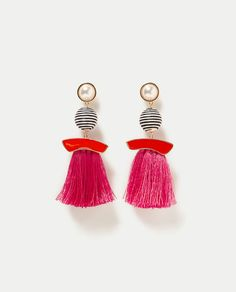 ZARA - WOMAN - FAUX PEARL EARRINGS WITH FRINGE