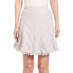 Rebecca Taylor Textured Tweed Skirt ($395) ❤ liked on Polyvore featuring skirts, apparel & accessories, pale blue, pink tweed skirt, tweed skirt, textured skirt, rebecca taylor skirt and rebecca taylor