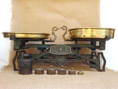 Antique Iron Kitchen Scale  Antique Market Scale by AdryVintage