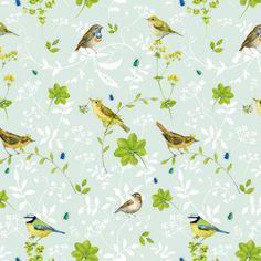Cotton fabric birdlife 145 cm wide - acufactum