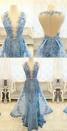 mermaid long ice blue prom dresses, long elegant prom gowns, new arrival prom dresses, prom dresses for women