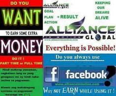 Want Money join Alliance in motion global visit www.facebook.com/virgieaimglobal