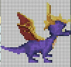 Spyro sprite grid