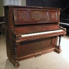 This beautiful upright piano was the most elaborate, highest grade piano in the Fischer product line.This piano is made of beautiful exotic-grain mahogany wood and is handsomely carved in the elaborate Victorian style. Shop now on our website! Victorian Furniture, Victorian Decor, Antique Decor, Antique Furniture, Antique Items, Furniture Decor, Piano Shop, Piano For Sale, Piano Restoration