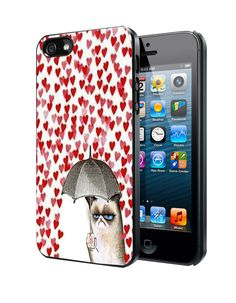 Love Rain Cat Umbrella Samsung Galaxy S3/ S4 case, iPhone 4/4S / 5/ 5s/ 5c case, iPod Touch 4 / 5 case