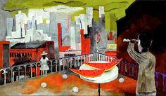 New York depuis la terrasse, Tamayo