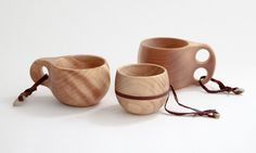 wooden coffee cups.
