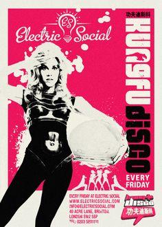 Electric Social Brixton, Kung Fu Disco flyer