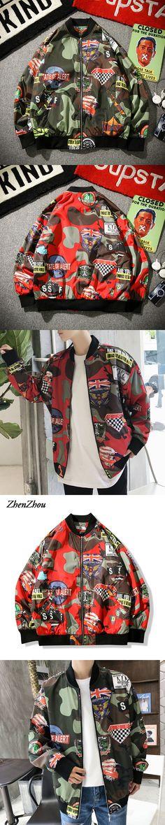 2017 Autumn Jackets Men Bomber Jacket Male Windbreaker Camouflage Military Jacket Men Plus Size M-5XL High Quality
