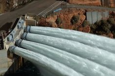 Glen Canyon Dam Glen Canyon Dam, Lake Powell, Colorado River, Weird Pictures, Places Ive Been, Utah, To Go, Building, Travel