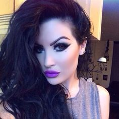 Harper Leigh Hollywood instagram pic wearing pretty zombie cosmetics lipstick