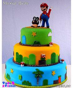 bolo super mario fake #bolomario #bolosupermario #festamario #mariobros Bolo Super Mario, Mario Bros., Birthday Cake, Pasta, Desserts, Food, Birthday Cakes, Craft, Needlepoint