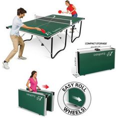 Tennis Table Ping Pong  FOLDABLE 15mm Top Official Tournament Size EASY SETUP #EastPointSports