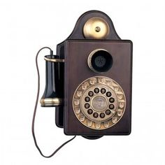 Paramount Antique Wall 1903 Reproduction: - Paramount antique style wall phone- Push button dialing in rotary fashionPMTANTIQUEWALL Antique Phone, Retro Phone, Phones For Sale, Vintage Phones, Old Wall, Wall Wood, Old Phone, Reproduction, How To Antique Wood
