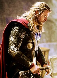 Chris Hemsworth as Thor Odinson. I could rock this outfit . . . lol. You gotta admit it's pretty cool.