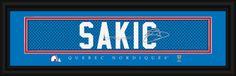 "Joe Sakic Quebec Nordiques ""NHL Vintage"" Player Signature Stitched Jersey Print"