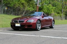 Indianapolis Red Exterior/Carbon Fiber Trim, Black Convertible Top and Blac. Bmw M6 Convertible, Bmw 6 Series, Leather Interior, Carbon Fiber, Black Leather, Cars, Vehicles, Usa, Model