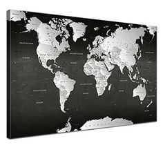 toile photo carte du monde world map pinterest toile photos et orange. Black Bedroom Furniture Sets. Home Design Ideas