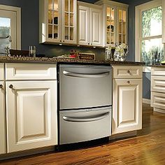 2 Drawer dishwasher- save energy and conserve water when you have smaller loads :)