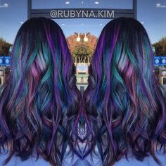 Shoutout to my NEW assistant @RUBYNA.KIM  She just slayed this oil slick inspired hair color using all @Pravana! Super EXCITED to have her on the #BESCENE team!! She's definitely one to watch out for!  Show her some love ❤