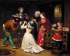 The Arming of the Young Knight - William Frederick Yeames (1835 – 1918, English)