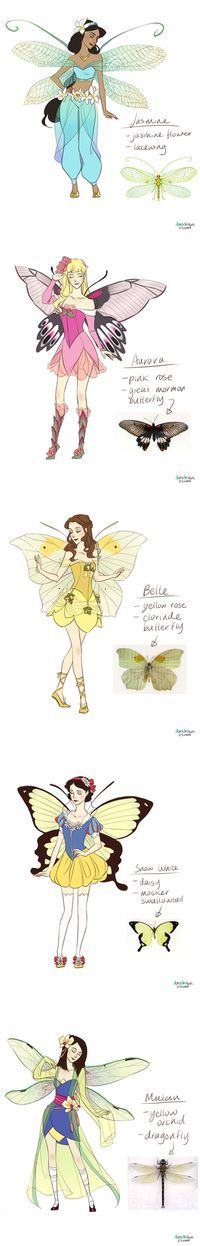 Disney princesses fairies