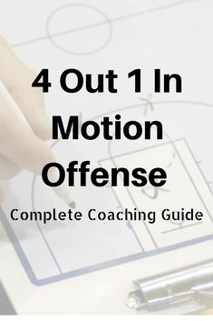 4 Out 1 In Motion Offense – Complete Coaching Guide Basketball Training Drills, Basketball Practice Plans, Basketball Tricks, Basketball Plays, Basketball Workouts, Basketball Skills, Basketball Quotes, Basketball Coach, Basketball Uniforms