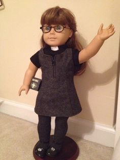 A modern female pastor outfit for an American Girl doll