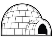 Snowhouse or Igloo Coloring page