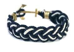 Anchor Bracelet - Blakes Yacht Club (Navy/White) from THE LUCKY KNOT